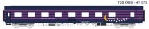 LS Models 47073 OBB 'WLAmz' Sleeping Car, TEN Blue with moon/stars livery